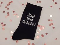 Personalised Wedding Socks - Name, Role And Date